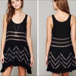 Free People Intimately Black Polka Dot Slip Dress